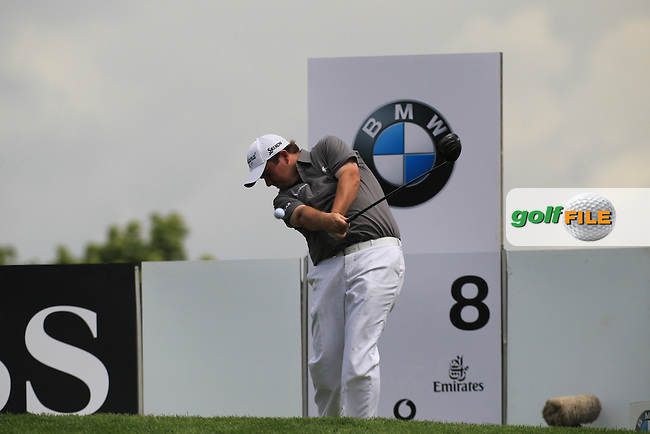 Shane Moery (IRL) on the 8th tee during round two of the BMW International Open, Golf Club Gut Lärchenhof,Cologne,Germany. 22/6/12.Picture Fran Caffrey www.golffile.ie