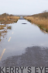 Pictured last Friday, the flooded road leading to the newly constructed Ballinagare bridge which has been impassible for local road users.