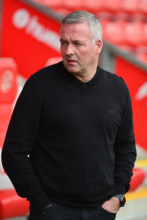 Ipswich Town manager Paul Lambert looks on prior to the match<br /> <br /> Photographer Richard Martin-Roberts/CameraSport<br /> <br /> The EFL Sky Bet League One - Fleetwood Town v Ipswich Town - Saturday 5th October 2019 - Highbury Stadium - Fleetwood<br /> <br /> World Copyright © 2019 CameraSport. All rights reserved. 43 Linden Ave. Countesthorpe. Leicester. England. LE8 5PG - Tel: +44 (0) 116 277 4147 - admin@camerasport.com - www.camerasport.com