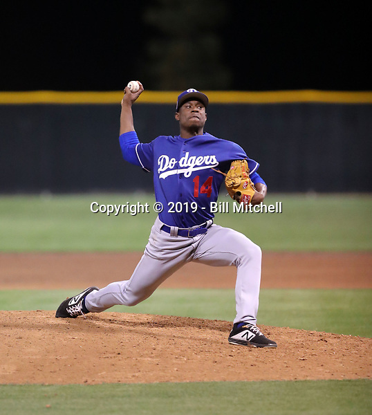 Josiah Gray - Los Angeles Dodgers 2019 spring training (Bill Mitchell)