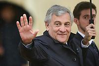Antonio Tajani - president du Parlement Europeen<br /> Parigi 11-11-2018 <br /> Eliseo Pranzo Ufficiale Capi di Stato <br /> Commemorazione 100 anni dalla fine della Grande Guerra, Prima Guerra Mondiale <br /> Foto JB Autissier/Panoramic / Insidefoto
