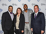 Darren Woodson, Carole Hart, John McKay and David Otunga at the Time Warner Media Cabletime Upfront media event held at the Private Social Restaurant  in Dallas, Texas.