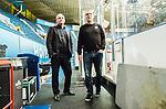 Stockholm 2014-11-16 Ishockey Hockeyallsvenskan AIK - IF Bj&ouml;rkl&ouml;ven :  <br /> AIK:s VD Johan Segui och tr&auml;nare huvudtr&auml;nare Peter Nordstr&ouml;m diskuterar efter matchen mellan AIK och IF Bj&ouml;rkl&ouml;ven  <br /> (Foto: Kenta J&ouml;nsson) Nyckelord:  AIK Gnaget Hockeyallsvenskan Allsvenskan Hovet Johanneshov Isstadion Bj&ouml;rkl&ouml;ven L&ouml;ven IFB portr&auml;tt portrait diskutera argumentera diskussion argumentation argument discuss