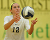 Shannon Brooks #12 of Massapequa serves during the Nassau County varsity girls volleyball Class AA championship against Long Beach at SUNY Old Westbury on Tuesday, Nov. 8, 2016. Massapequa won 3-0.