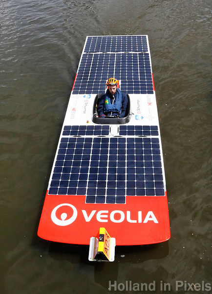Nederland Purmerend -  23 juni  2018. Solar Boat Race. Tweedaags evenement met boten die varen op zonne-energie.    Foto Berlinda van Dam Hollandse Hioogte