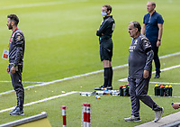 Leeds United's manager Marcelo Bielsa (right) <br /> <br /> Photographer Andrew Kearns/CameraSport<br /> <br /> The EFL Sky Bet Championship - Swansea City v Leeds United - Sunday 12th July 2020 - Liberty Stadium - Swansea<br /> <br /> World Copyright © 2020 CameraSport. All rights reserved. 43 Linden Ave. Countesthorpe. Leicester. England. LE8 5PG - Tel: +44 (0) 116 277 4147 - admin@camerasport.com - www.camerasport.com