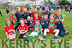 Some of the St Michaels Foilmore U14 at the Féile in Cahersiveen taking a break before the parade pictured front l-r; Emma Looney, Alison Gill, Sean Daly, Conor Sugrue, Aodhan Mangan, Thomas O'Brien, Calum Winton, Kieran O'Shea, Michael Scanlon, Luke Ó Cathain, Finn Barrett, back l-r; Cathal Casey, Ciara Furey, Áine Daly, Daithí O'Shea, Donal Sugrue, Orla Barrett, Aoife Looney, Meabh O'Sullivan & Iona Winton.