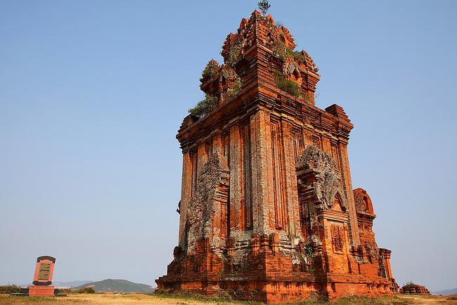 Banh It Cham Towers, near Quy Nhon, Vietnam. April 25, 2016.