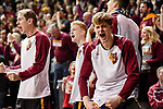 SIOUX FALLS, SD - MARCH 24: Parker Fox #24 of Northern State University reacts after an NSU score during the Division II Men's Basketball Championship held at the Sanford Pentagon on March 24, 2018 in Sioux Falls, South Dakota. Ferris State University defeated Northern State University 71-69. (Photo by Tim Nwachukwu/NCAA Photos via Getty Images)
