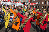 Düsseldorf, Germany. 16 February 2015. KG Regenbogen at the parade. The traditional Shrove Monday (Rosenmontag) carnival parade takes place in Düsseldorf, Germany. 1.2 million revellers lined the route. The Monday parades went ahead despite increased terror warnings which led to the parade in Brunswick (Braunschweig) being cancelled shortly before it was due to take place.