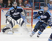 Ben Bishop, Bret Tyler - The University of Maine Black Bears defeated the Michigan State University Spartans 5-4 on Sunday, March 26, 2006, in the NCAA East Regional Final at the Pepsi Arena in Albany, New York.