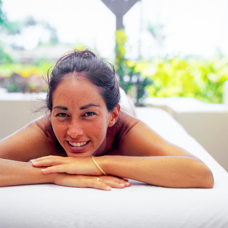 Female model at the Honua Spa, Hotel Hana Maui, Hawaii