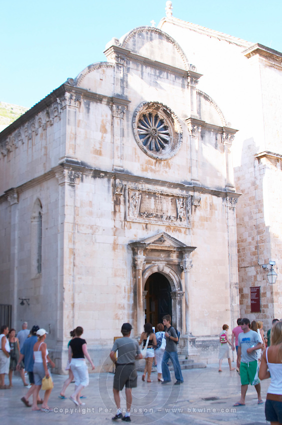 The St Saveur church, Sveti Spas, Spasa, near the Pile gate Placa Stradun Dubrovnik, old city. Dalmatian Coast, Croatia, Europe.