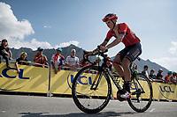 Dylan Theuns (BEL/Bahrein-Merida) up the Tourmalet (HC/2115m/19km @7.4%)<br /> <br /> Stage 14: Tarbes to Tourmalet(117km)<br /> 106th Tour de France 2019 (2.UWT)<br /> <br /> ©kramon