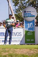 Sergio Garcia (ESP) on the 10th tee during the third round of the Mutuactivos Open de Espana, Club de Campo Villa de Madrid, Madrid, Madrid, Spain. 05/10/2019.<br /> Picture Hugo Alcalde / Golffile.ie<br /> <br /> All photo usage must carry mandatory copyright credit (© Golffile | Hugo Alcalde)
