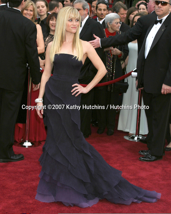 Reese Witherspoon.79th Annual Academy Awards.Kodak Theater .Hollywood & Highland.Hollywood, CA.February 25, 2007.©2007 Kathy Hutchins / Hutchins Photo....
