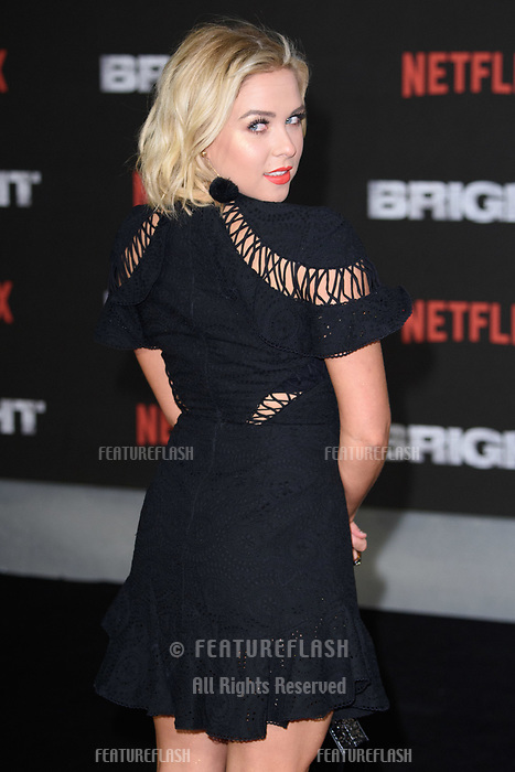 Gabby Allen at the European premiere for &quot;Bright&quot; European premiere at the BFI South Bank, London, UK. <br /> 15 December  2017<br /> Picture: Steve Vas/Featureflash/SilverHub 0208 004 5359 sales@silverhubmedia.com