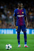 12th September 2017, Camp Nou, Barcelona, Spain; UEFA Champions League Group stage, FC Barcelona versus Juventus; Ousmane Dembélé of FC Barcelona ready for a free kick