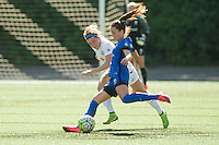 Seattle, WA - Sunday, May 1, 2016: Seattle Reign FC defender Lauren Barnes (3) clears the ball during the first half of a National Women's Soccer League (NWSL) match at Memorial Stadium.