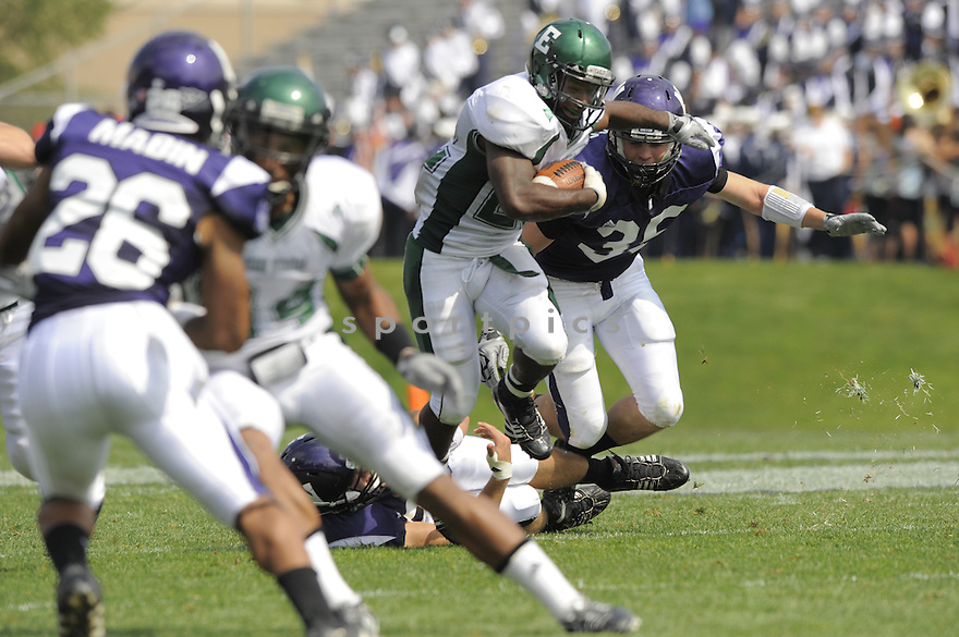DWAYNE PRIEST, of the Eastern Michigan University Eagles, in action during the Eagles game against the Northwestern Wildcats in Evanston, IL, on September 12, 2009.  Northwestern win 27-24.