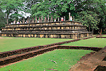 Council Chamber, Citadel, UNESCO World Heritage Site, the ancient city of Polonnaruwa, Sri Lanka, Asia