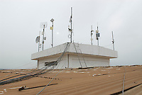 Small microwave links on the roof of the Vodafone engineering building.