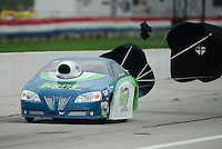 Sept. 1, 2012; Claremont, IN, USA: NHRA pro stock driver Jerry Eckman during qualifying for the US Nationals at Lucas Oil Raceway. Mandatory Credit: Mark J. Rebilas-