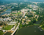 Aerial view of the US Naval Academy in  Annapolis, Maryland