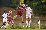 04 October 2012: Boston College's Kristen Mewis (19) and UNC's Amber Brooks (22). The University of North Carolina Tar Heels defeated the Boston College Eagles 1-0 at Fetzer Field in Chapel Hill, North Carolina in a 2012 NCAA Division I Women's Soccer game.