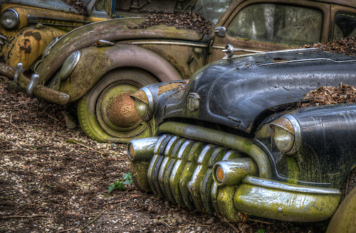 Old car graveyard