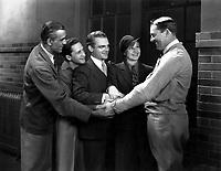 (L to R) Boris Karloff,<br /> Ralf Harolde,<br /> James Cagney,<br />  Evelyn Knapp,<br /> Alfred E. Green<br /> in SMART MONEY