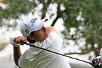 Felipe Aguilar tees off on the 10th tee to start his round during Thusday Day 1 of the Abu Dhabi HSBC Golf Championship, 20th January 2011..(Picture Eoin Clarke/www.golffile.ie)