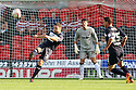 Jon Ashton of Stevenage clears. Doncaster Rovers v Stevenage - npower League 1 -  Keepmoat Stadium, Doncaster - 22nd September, 2012. © Kevin Coleman 2012.