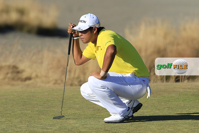Hideki Matsuyana (JPN) on the 15th green during Friday's Round 2 of the 2015 U.S. Open 115th National Championship held at Chambers Bay, Seattle, Washington, USA. 6/20/2015.<br /> Picture: Golffile | Eoin Clarke<br /> <br /> <br /> <br /> <br /> All photo usage must carry mandatory copyright credit (&copy; Golffile | Eoin Clarke)