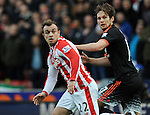 Xherdan Shaqiri of Stoke City is challenged by Daley Blind of Manchester United<br /> - Barclays Premier League - Stoke City vs Manchester United - Britannia Stadium - Stoke on Trent - England - 26th December 2015 - Pic Robin Parker/Sportimage