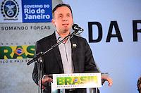 RIO DE JANEIRO, RJ, 14 DE JUNHO DE 2013 -PRESIDENTA DILMA NA ROCINHA-RJ- O Ministro Aguinaldo Ribeiro na cerimônia de anúncio de investimentos em infraestrutura urbana e equipamentos sociais nas comunidades da Rocinha e nos complexos do Lins e do Jacarezinho, no Complexo Esportivo da Rocinha , zona sul do Rio de Janeiro/RJ do Rio de Janeiro.FOTO:MARCELO FONSECA/BRAZIL PHOTO PRESS