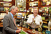 NIgel Farage <br /> leader of UKIP <br /> speech <br /> &quot;The Truth about Trade beyond the EU&quot; <br /> in Westminster London Great Britain <br /> 17th June 2015 <br /> <br /> Nigel Farage <br /> with the landlord of the Westminster Arms pub <br /> <br /> Photograph by Elliott Franks <br /> Image licensed to Elliott Franks Photography Services