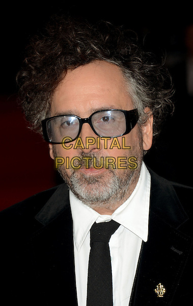 Tim Burton.The 'Frankenweenie 3D' opening gala, 56th BFI London Film Festival, Odeon Leicester Square cinema, London, England..October 10th, 2012.headshot portrait black white shirt tie glasses beard facial hair .CAP/WIZ.© Wizard/Capital Pictures.