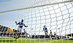 25.08.2019 St Mirren v Rangers: Jermain Defoe blasts the ball bback into the net after Borna Barisic's goal