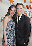Laura Osnes And Husband Nathan Johnson.attending the Broadway Opening Night Performance of 'Peter And The Starcatcher' at the Brooks Atkinson Theatre on 4/15/2012 in New York City.