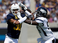 Tyre Ellison of California in action during the game against Nevada at Memorial Stadium in Berkeley, California on September 1st, 2012.  Nevada Wolf Pack defeated California, 31-24.