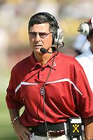 2 September 2006: Head coach Walt Harris during Stanford's 48-10 loss to the Oregon Ducks at Autzen Stadium in Eugene, OR.