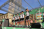 Team Sunweb at sign on before the start of the 112th edition of Il Lombardia 2018, the final monument of the season running 241km from Bergamo to Como, Lombardy, Italy. 13th October 2018.<br /> Picture: Eoin Clarke | Cyclefile<br /> <br /> <br /> All photos usage must carry mandatory copyright credit (© Cyclefile | Eoin Clarke)