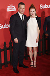 WESTWOOD, CA - OCTOBER 22: Actors Matt Damon (L) and Julianne Moore arrive at the Premiere Of Paramount Pictures' 'Suburbicon' at Regency Village Theatre on October 22, 2017 in Westwood, California.