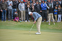 Matt Kuchar (USA) watches his putt on 18 during day 5 of the WGC Dell Match Play, at the Austin Country Club, Austin, Texas, USA. 3/31/2019.<br /> Picture: Golffile | Ken Murray<br /> <br /> <br /> All photo usage must carry mandatory copyright credit (&copy; Golffile | Ken Murray)