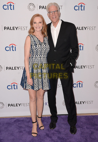 16 September  2015 - Beverly Hills, California - Marg Helgenberger, Ted Danson. 2015 Paleyfest Fall TV Preview &quot;CSI: Farewell Tribute&quot; held at Paley Center for Media. <br /> CAP/ADM/BT<br /> &copy;BT/ADM/Capital Pictures