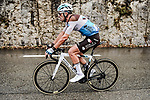 First crash of the day for Pierre Latour (FRA) AG2R La Mondiale during a treacherous Stage 1 of Tour de France 2020, running 156km from Nice Moyen Pays to Nice, France. 29th August 2020.<br /> Picture: ASO/Alex Broadway | Cyclefile<br /> All photos usage must carry mandatory copyright credit (© Cyclefile | ASO/Alex Broadway)
