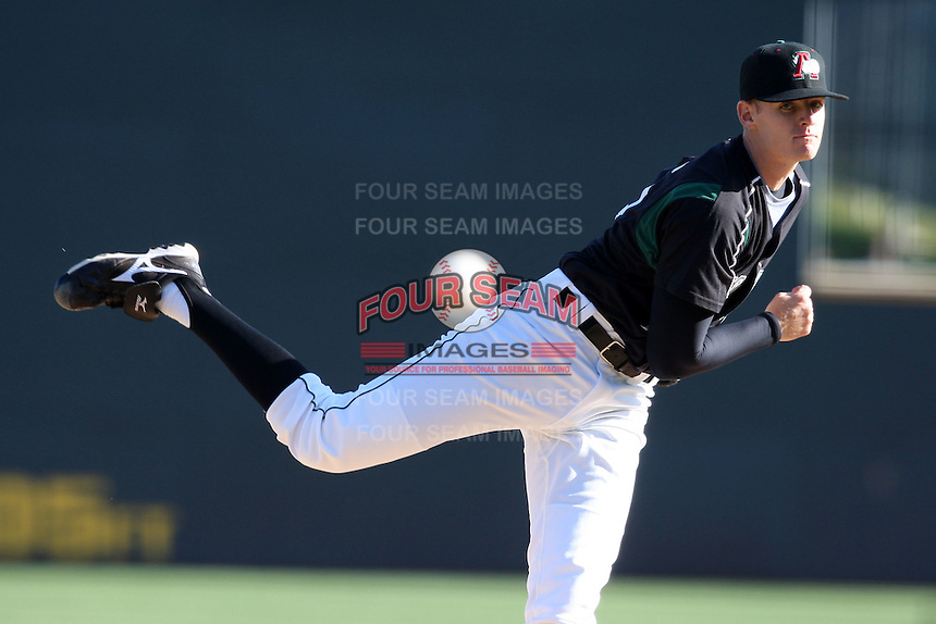April 10, 2010:  Pitcher Tim Alderson of the Altoona Curve delivers a pitch during a game at Blair County Ballpark in Altoona, PA.  Altoona is the Double-A Eastern League affiliate of the Pittsburgh Pirates.  Photo By Mike Janes/Four Seam Images