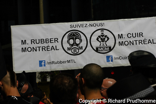A large banner for Mr Rubber Montreal