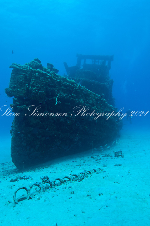 The North Wind tug wreck in Butler Bay<br />  near Fredericksted, St. Croix<br /> U.S. Virgin Islands